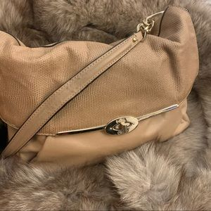"""Fold over Coach """"Madison"""" Bag in Camel"""